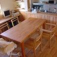 ダイニング・欅のテーブル