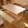 ダイニング・メイプルのテーブル&ベンチ
