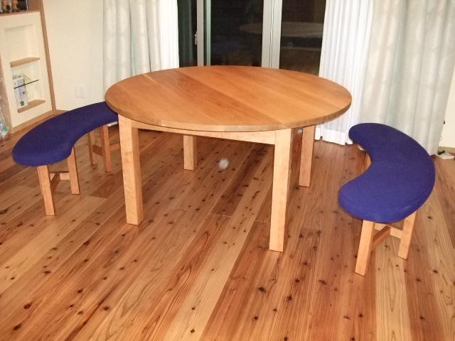 ダイニング・ラウンドテーブル+ベンチ