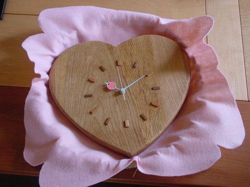 木の時計forウェディング