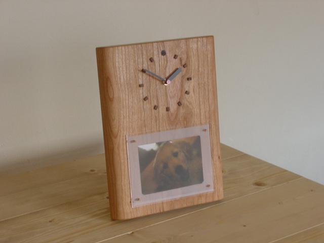 木の時計+フォト